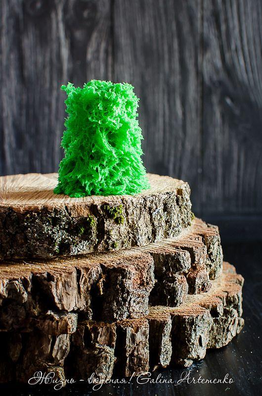 бисквит мох для декора, бисквит для декора рецепт, decor sponge