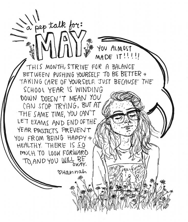 important pep talk for the month of May