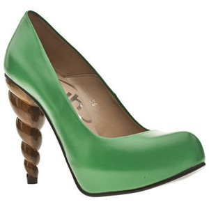 Love that heel!Katy Blog, Green Shoes, Green Things, Cream Social, Funny Shoes, Fashion Center, Ice Cream, Black, Fashion Pics