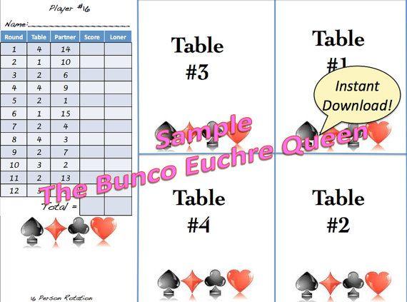 7 best euchre printables images on pinterest card games