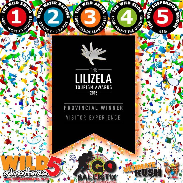 @wild5adventures is the Provincial Winner of the @Lilizela_Awards for BEST VISITOR EXPERIENCE #2015 #LilizelaAwards http://bit.ly/1GH6GpR