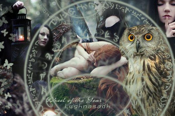 Колесо года, Лугнасад  Wheel of the Year, Lughnasadh, postcard