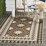 Safavieh Veranda Collection VER099-0724 Indoor/ Outdoor Chocolate and Terracotta Southwestern Area Rug (6'7″ x 9'6″)