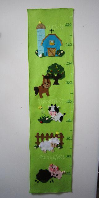 Farm themed growth chart
