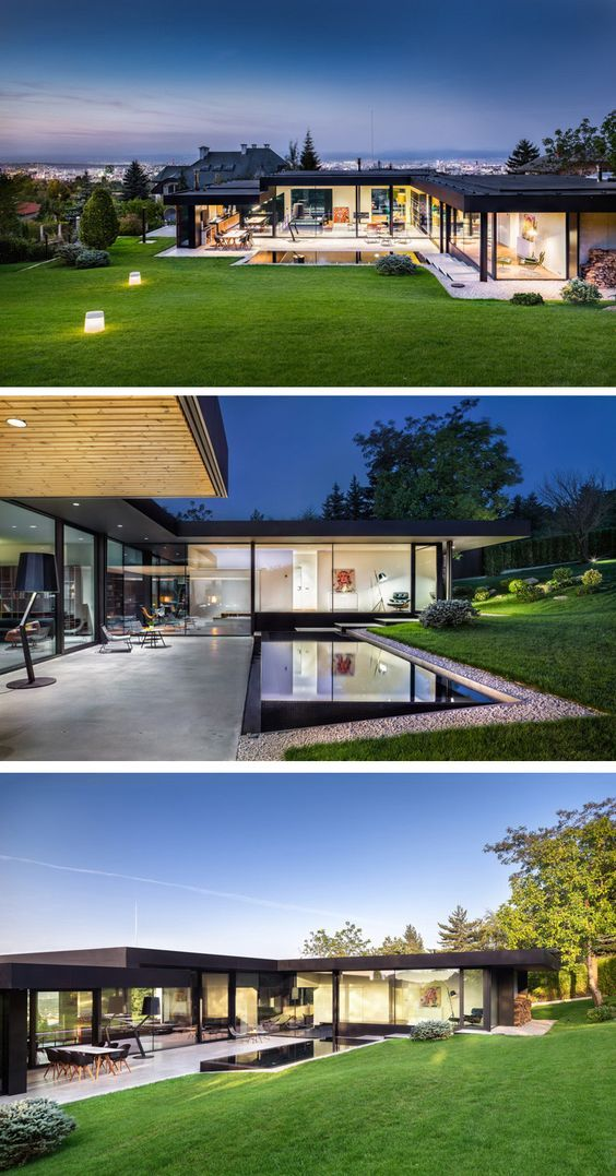 I/O Architects have designed a new home on a hillside near Sofia, Bulgaria.