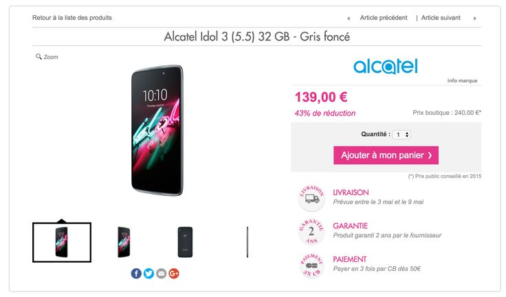 Bon plan : l'Alcatel Idol 3 (5.5) à 139 euros, une opportunité intéressante - http://www.frandroid.com/marques/alcatel-onetouch/353482_%f0%9f%94%a5-plan-lalcatel-idol-3-5-5-a-139-euros  #AlcatelOneTouch