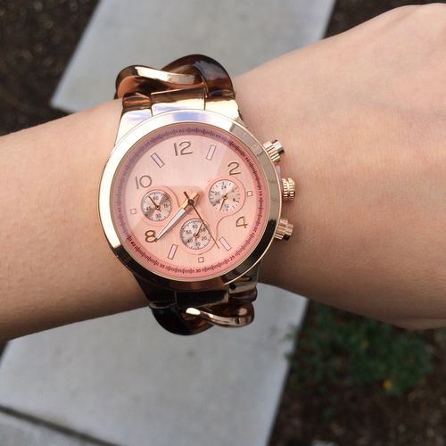 Classic Rose Gold Link & Tortoise Watch | @t+j Designs