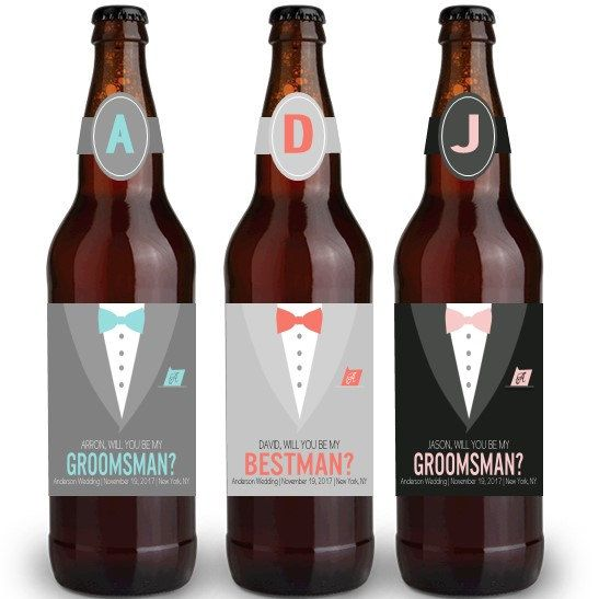 Beer Labels Will You Be My Groomsman will by TheSloshedSisters