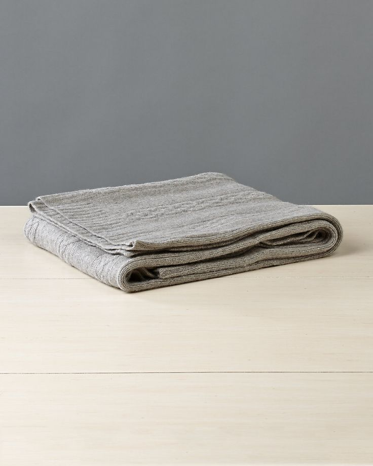 Magaschoni steel melange cashmere throw throwhome bed