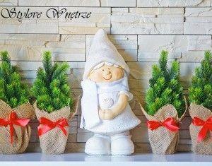 Świąteczna Figurka Dziewczynka 41cm nr2