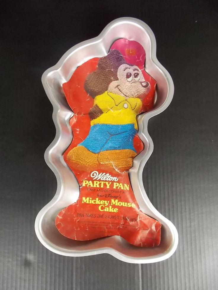 Full body Mickey Mouse Wilton Cake Pan 515-1805 Insert Instructions 1978 Korea #Wilton