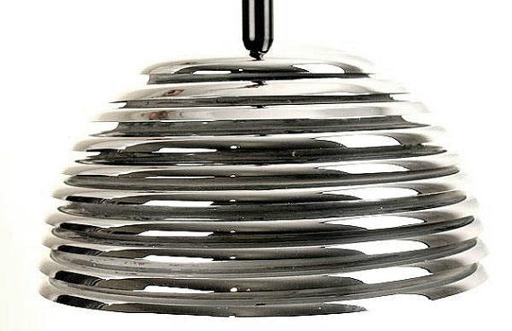 Space Age Panton Mid Century Chrome Chandelier by ANTICLOPEDIA, $450.00