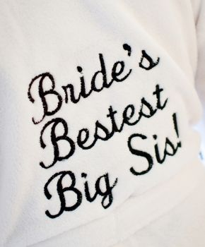 fun wedding bathrobe