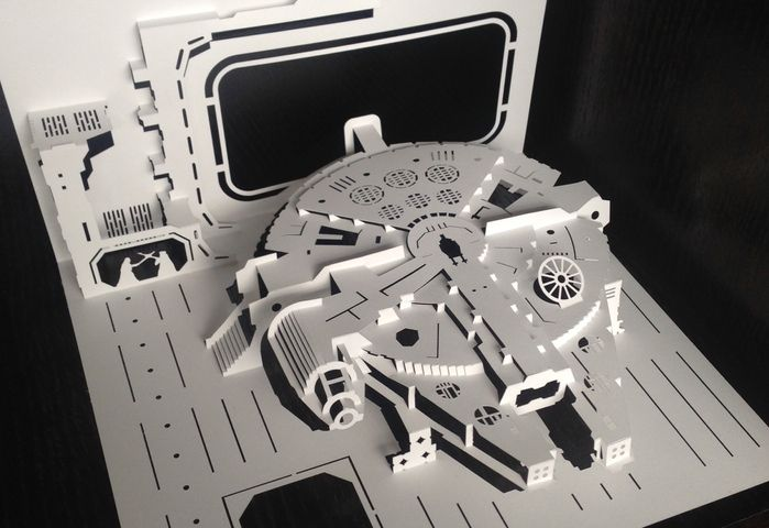 Kirigami Cut Scene Collection Uses Paper to Capture Star Wars in a New Light