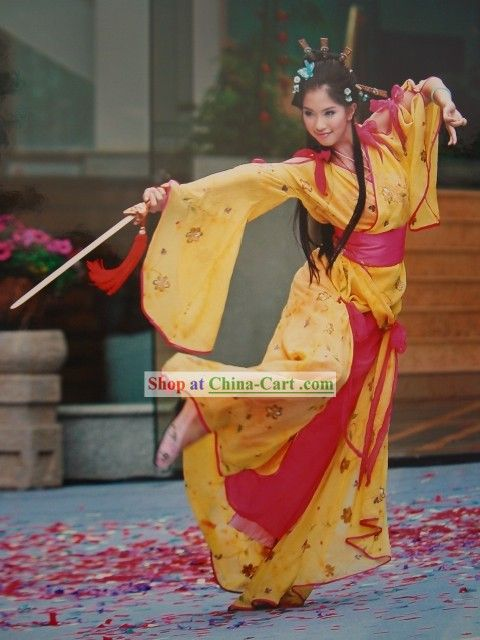 ancient chinese sword dance costume