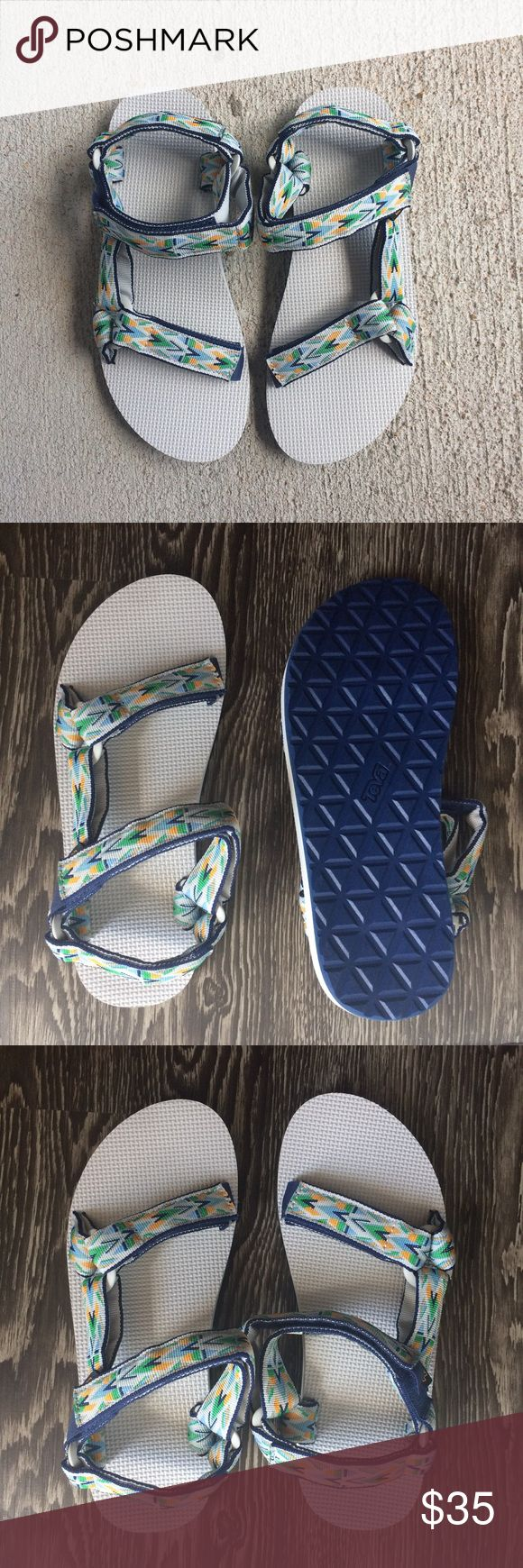Men's Teva Universal original Inca edition Stay fly in comfort with these Teva Universal Inca edition sandals! Great for on or off the trail! Double straps for optimal comfort- Very stylish and VERY comfortable! BRAND NEW WITHOUT TAGS/BOX Teva Shoes Sandals & Flip-Flops
