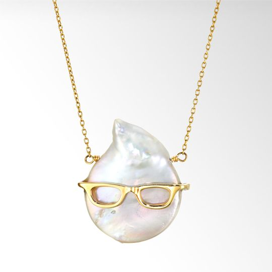 STAR JEWELRY |PEARL & GLASSES NECKLACE: ネックレス