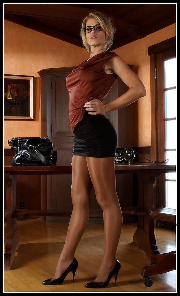 Office skirt pantyhose
