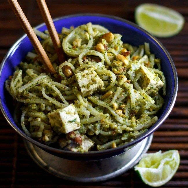 Thai Rice Noodles with Tofu