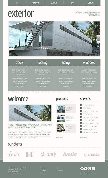 Exterior Design Joomla Templates by Elza