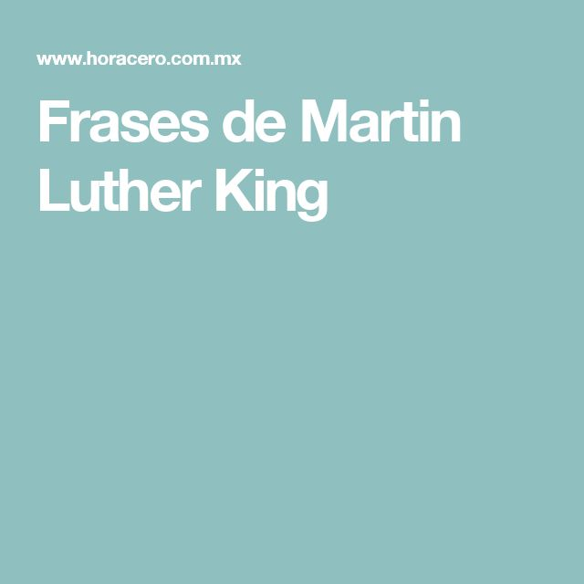 Frases de Martin Luther King