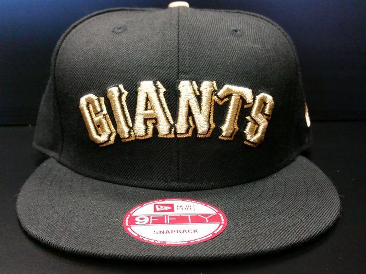 San Francisco Giants Snapback Exclusive Custom Black and Metallic Gold