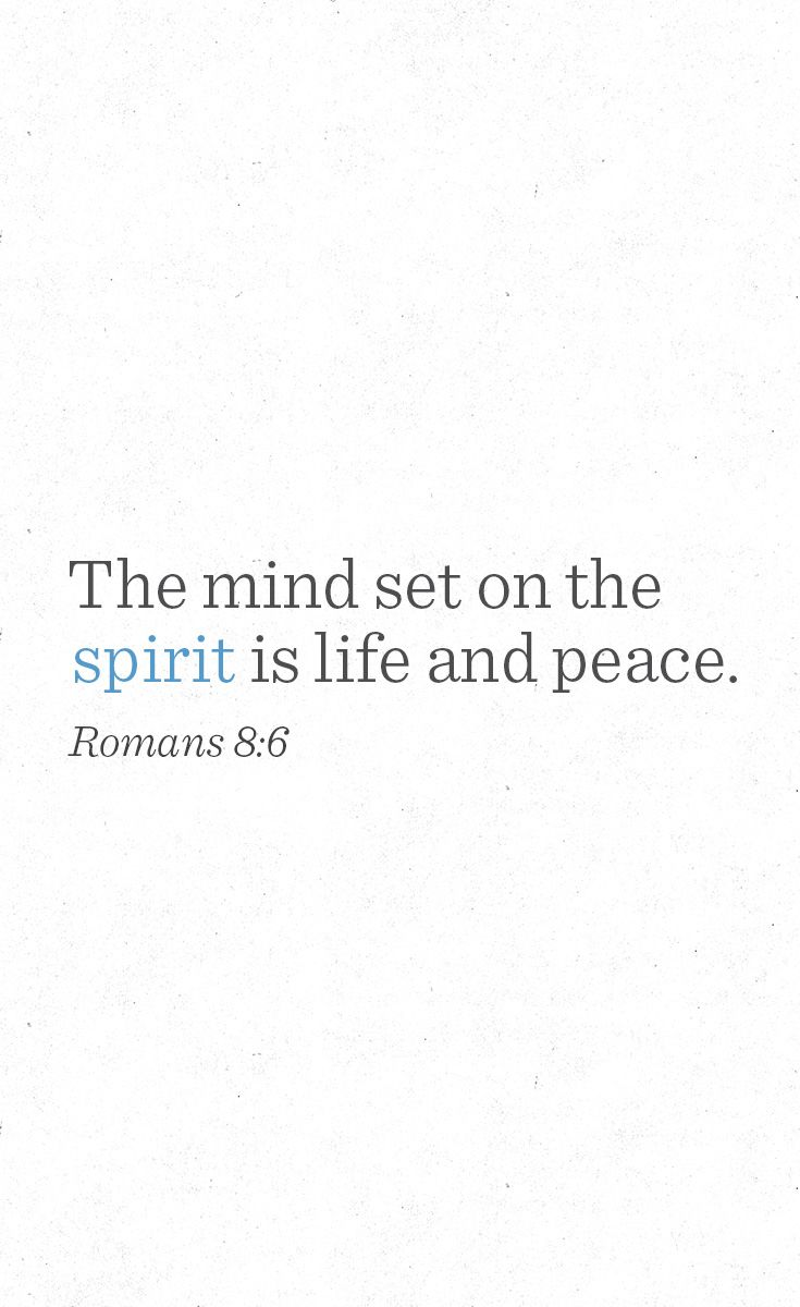 Death, or life and peace—it all depends on where the mind is set. We surely prefer life and peace, but since life and peace result from the mind set on the spirit, how do we do that? What is the spirit? What is the flesh? What is death in our experience? What are life and peace? Find out by reading this week's blog post.