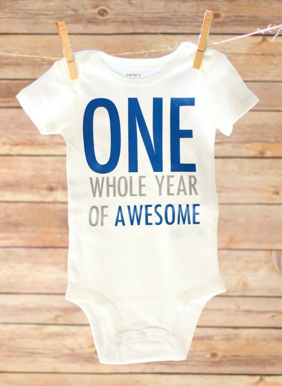 First Birthday Boy Baby Boy First Birthday Outfit by OwenAndGwen