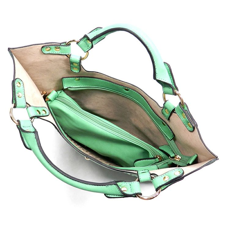 Shop Suey Boutique - KELLIE TOTE- Green, $58.50 (http://www.shopsueyboutique.com/kellie-tote-green/)