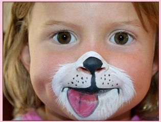 face painting for kids  tutorials | More puppy party ideas for kids: