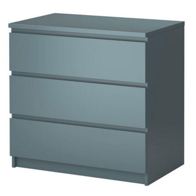 Commode bleue malm 3 tiroirs de ikea ideas for sibylle for Ikea critique de lit de stockage de malm