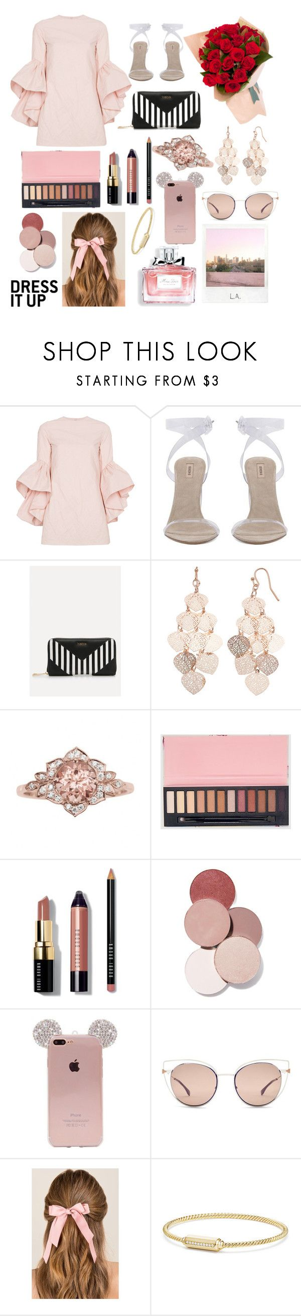 """""""V day meal 💕💋"""" by meganjaned ❤ liked on Polyvore featuring Marques'Almeida, Bebe, LC Lauren Conrad, Bobbi Brown Cosmetics, LunatiCK Cosmetic Labs, Fendi, Francesca's, Christian Dior, David Yurman and Polaroid"""
