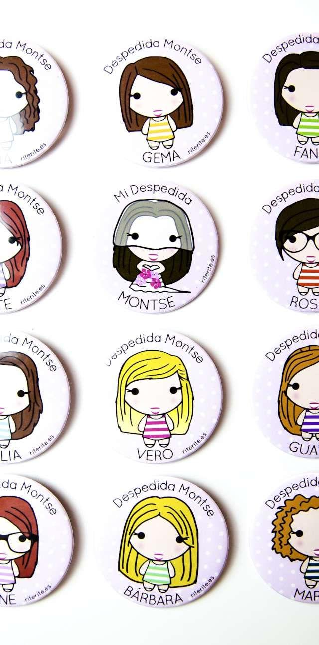Chapas personalizadas despedida de soltera / Lánybúcsú kitűző
