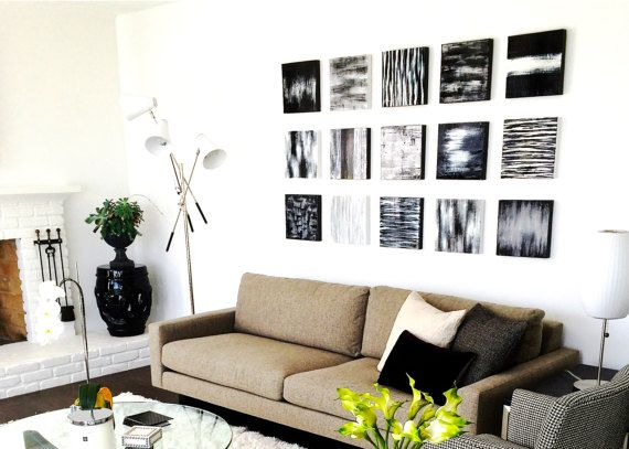 Modern Wall Decor | Wood Wall Art | Black And White Abstract Painting |  Wood Wall Sculpture | Neutral Wall Decor Rosemary Pierce Modern Art