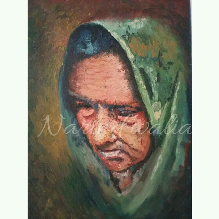 Oil on canvas portrait of my grandmother