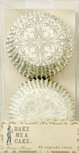 Victorian Vintage Cupcake Liners, Baking Cups- Two Designs Set of (48). $4.25, via Etsy.