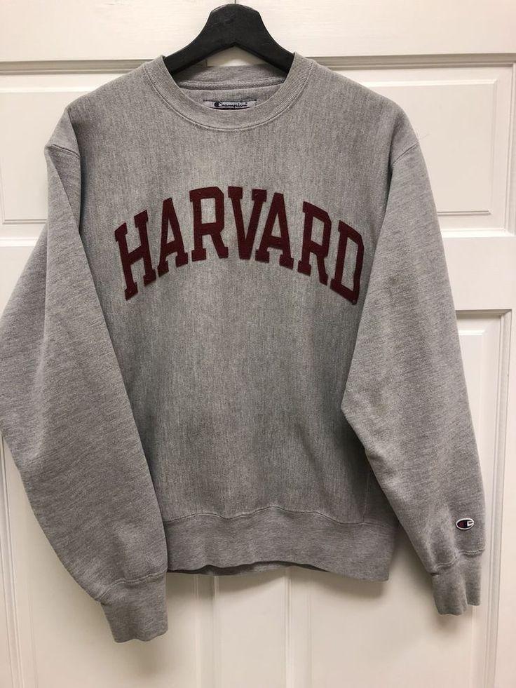 8e2c46424 Champion Reverse Weave - Harvard University - Sweatshirt mit  Rundhalsausschnitt in Grau - #Champion #Grau #Harvard #mit #Reverse  #Rundhalsausschnitt ...