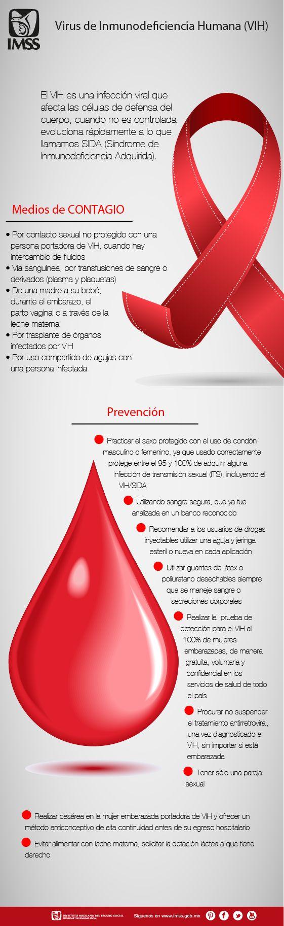 El VIH es una infección viral que afecta las células de defensa del cuerpo