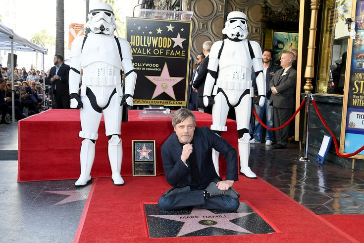 HOLLYWOOD, CA - MARCH 08:  Mark Hamill is honored with a star on the Hollywood Walk of Fame on March 8, 2018 in Hollywood, California.  (Photo by Steve Granitz/WireImage) via @AOL_Lifestyle Read more: https://www.aol.com/article/entertainment/2018/03/08/star-wars-icon-mark-hamill-receives-hollywood-walk-of-fame-star-alongside-harrison-ford-george-lucas-and-r2d2/23380932/?a_dgi=aolshare_pinterest#fullscreen