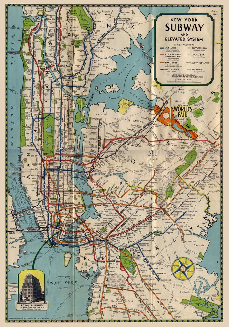 New York Subway and Elevated System, 1939