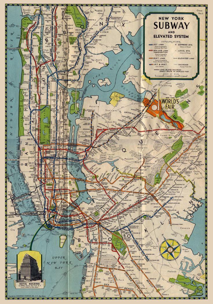york map city new vintage
