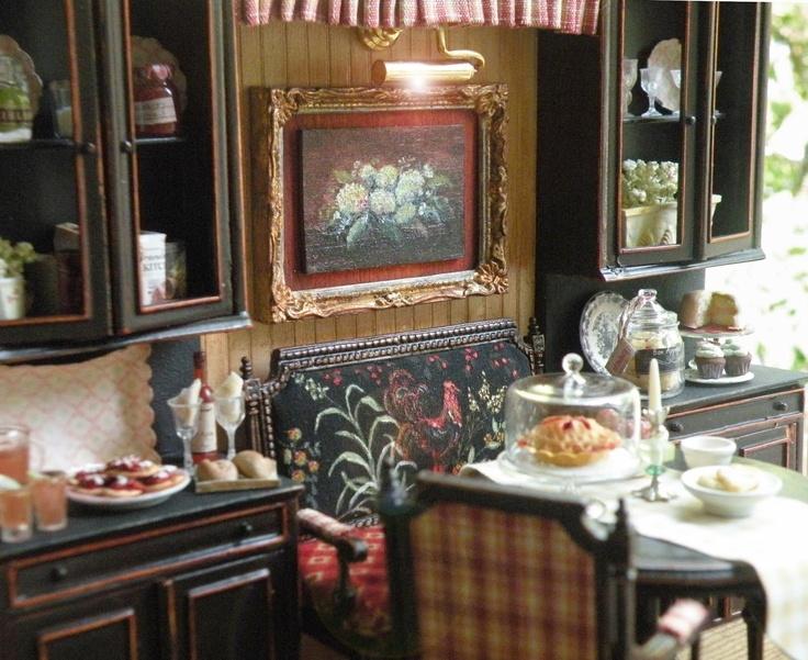 Feeling Fall in Miniature ~ Maritza Moran and Cynthia's Cottage Design: Dollhouse Furniture, Dollhouse Food, Miniature Love Dollhouses, Doll Houses, Delightful Dollhouses, Dollhouse Miniatures