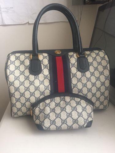 d927f2452fc Authentic Gucci Supreme Vintage Boston Speedy Web Doctor Handbag ...