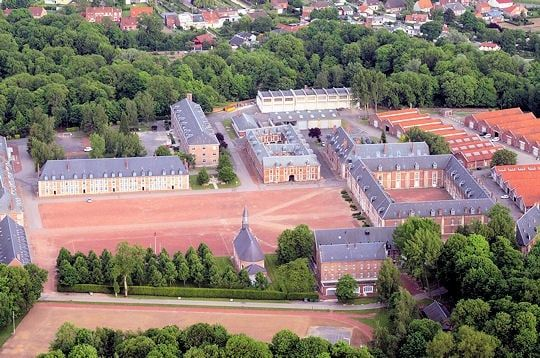 "La citadelle d'Arras. The citadel of Arras was built between 1668 and 1672 by Vauban and d'Aspremont. This double line of fortifications, designed to protect the kingdom from the invasions of the Spanish Netherlands, was nicknamed ""la belle inutile"" (the useless beauty), in view of its position behind it.  © Photo city of Arras"