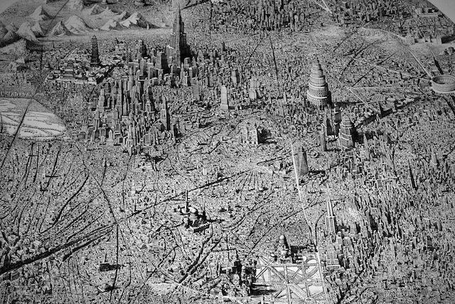 Infinite Cityscapes Drawings