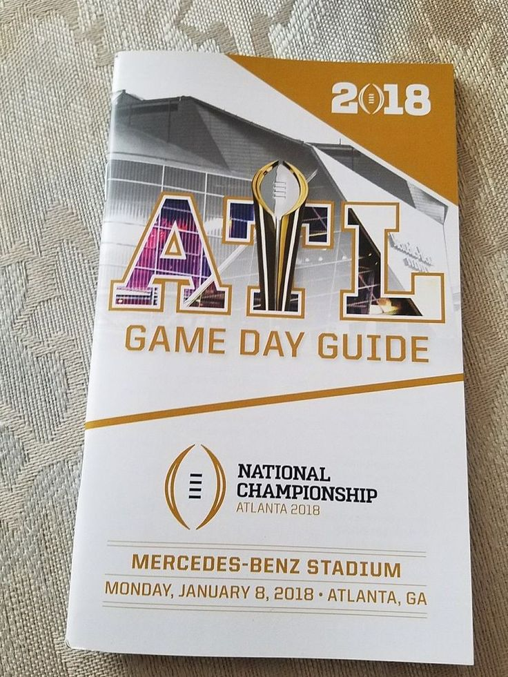 2018 College Football National Championship Gameday / Game day guide - Rare find