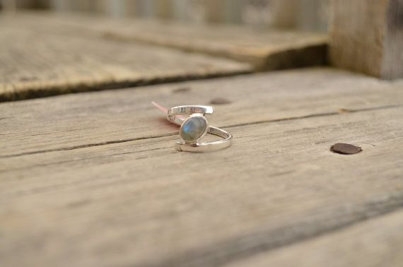 Genuine Newfoundland LABRADORITE Sterling Silver Ring size 8 r76 on Etsy, $35.00 CAD
