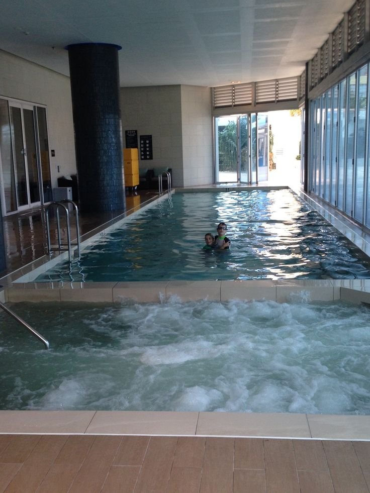 Indoor Pool at the Hilton Surfers Paradise Hotel and Residences on the Gold Coast, Australia