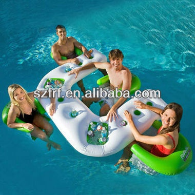 Inflatable Floating Bar With 4 Chairs Cool Stuff