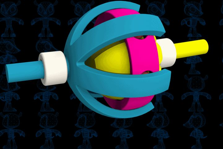 Spatial Joint Toy - SketchUp,Parasolid,SOLIDWORKS,Autodesk 3ds Max,OBJ,STEP / IGES,STL - 3D CAD model - GrabCAD